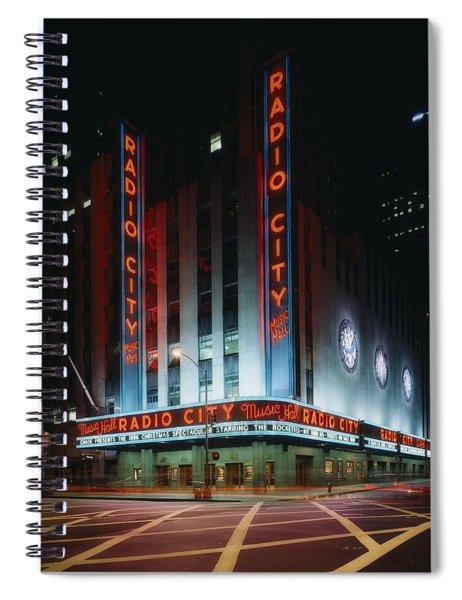 Radio City Music Hall In New York City Spiral Notebook