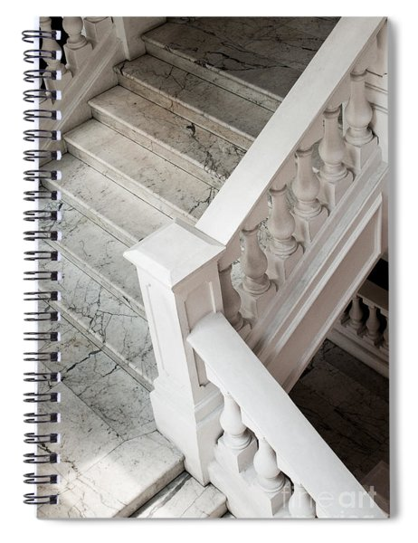Raffle's Hotel Marble Staircase Spiral Notebook