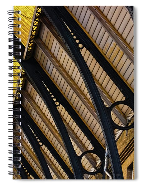 Rafters At London Kings Cross Spiral Notebook