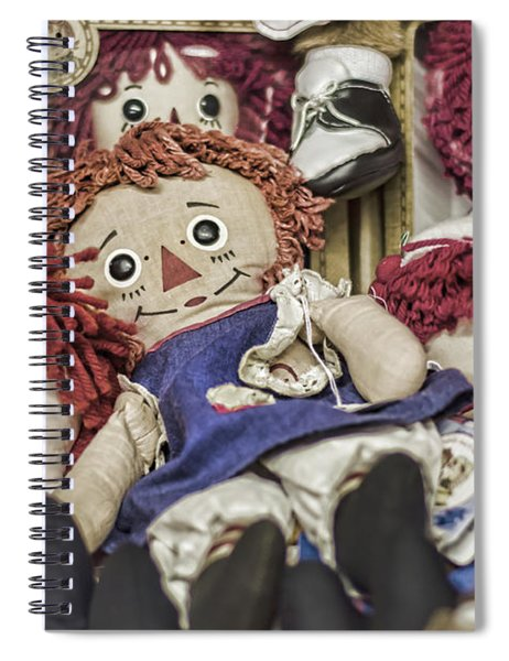 Raggedy Ann And Andy Spiral Notebook