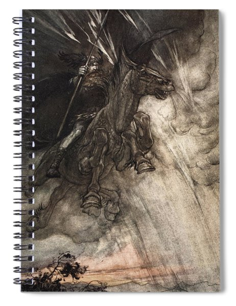 Raging, Wotan Rides To The Rock! Like Spiral Notebook