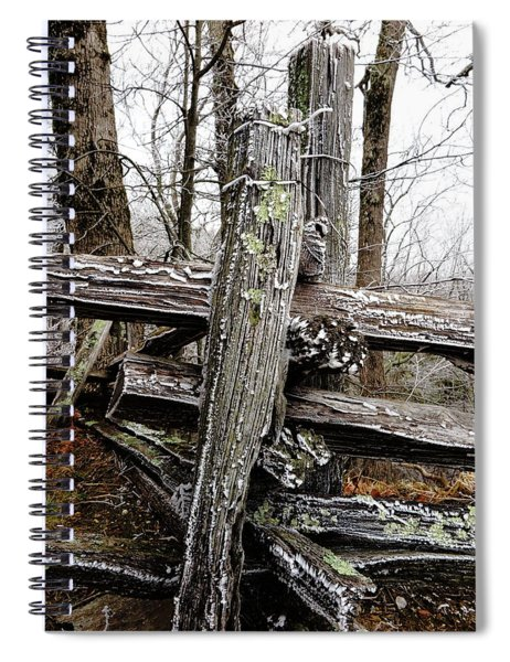 Rail Fence With Ice Spiral Notebook