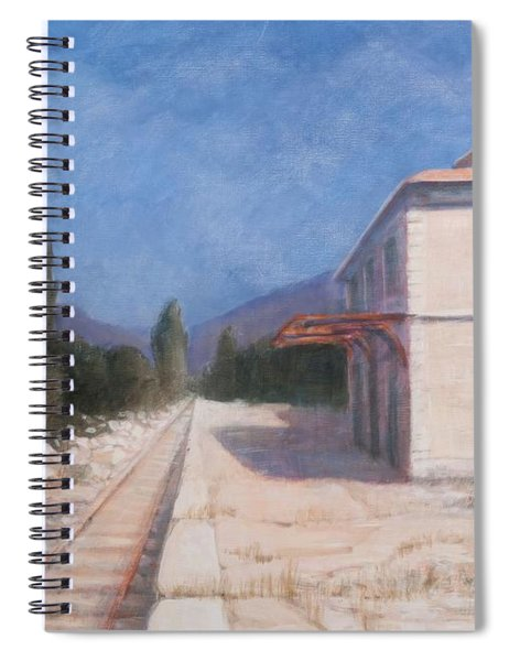 Rail Station, Châteauneuf, 2012 Acrylic On Canvas Spiral Notebook
