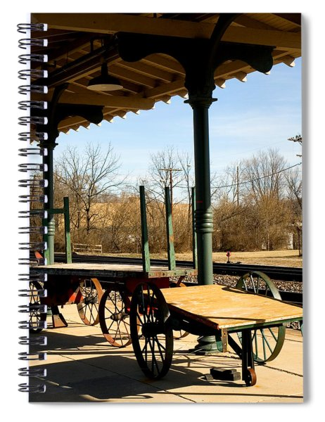 Railroad Wagons Spiral Notebook