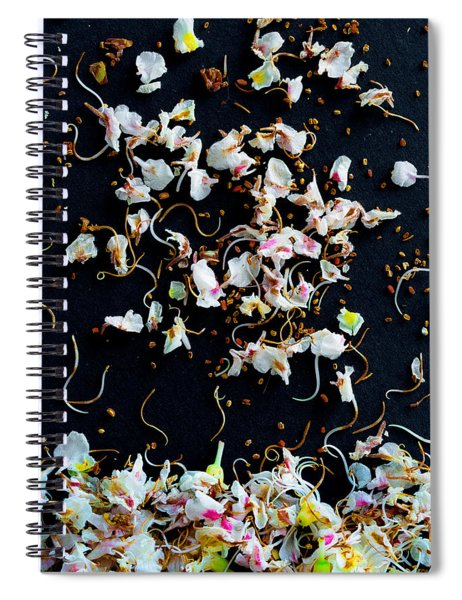 Rain Of Petals Spiral Notebook