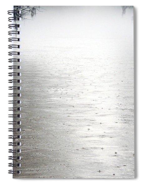 Rain On The Flint Spiral Notebook