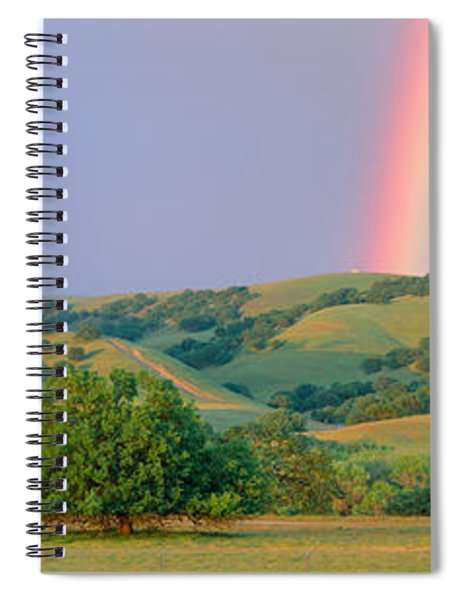 Rainbow And Rolling Hills In Central Spiral Notebook