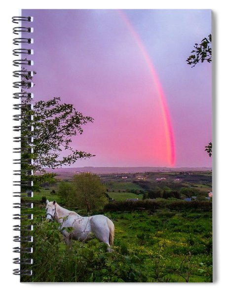 Rainbow At Sunset In County Clare Spiral Notebook