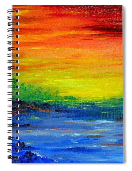 Rainbow Back Waters Spiral Notebook