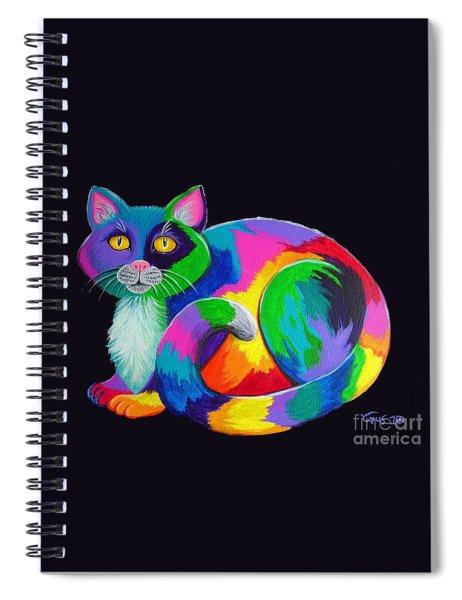 Rainbow Calico Spiral Notebook