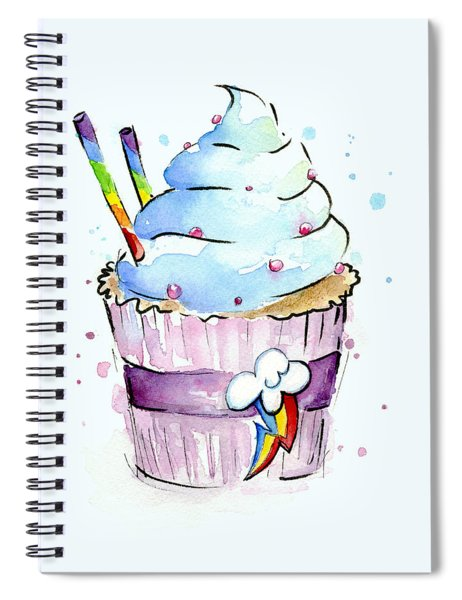 Rainbow-dash-themed Cupcake Spiral Notebook