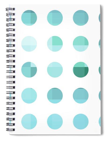 Rainbow Dots Aqua  Spiral Notebook