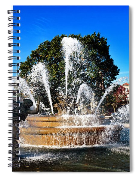 Rainbow In The Jc Nichols Memorial Fountain Spiral Notebook