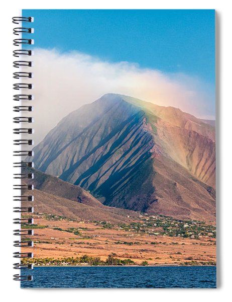 Rainbow Over Maui Mountains   Spiral Notebook
