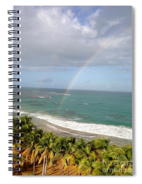 Rainbow Over Palms Spiral Notebook