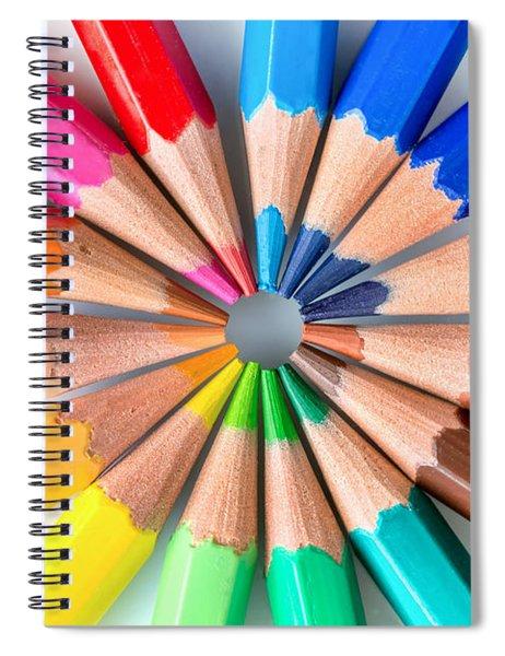 Rainbow Pencils Spiral Notebook