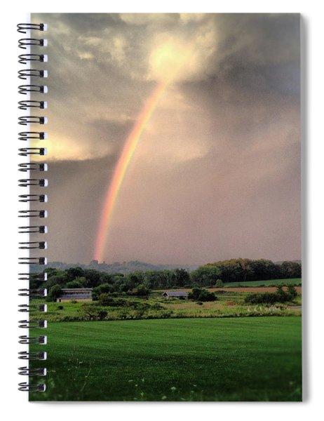 Rainbow Poured Down Spiral Notebook