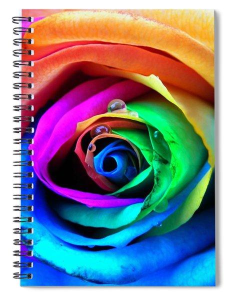 Rainbow Rose Spiral Notebook