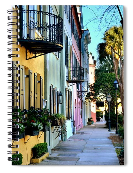 Rainbow Row Hdr Spiral Notebook