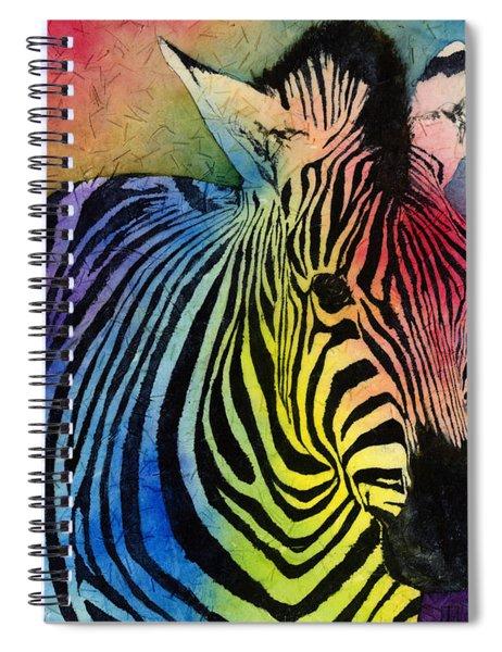 Rainbow Zebra Spiral Notebook