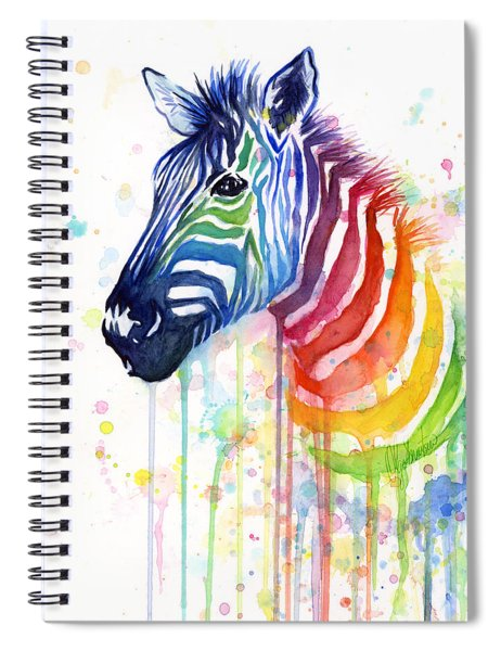 Rainbow Zebra - Ode To Fruit Stripes Spiral Notebook