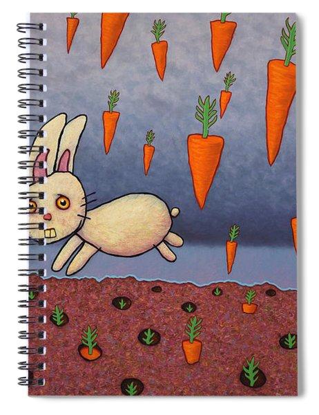 Raining Carrots Spiral Notebook
