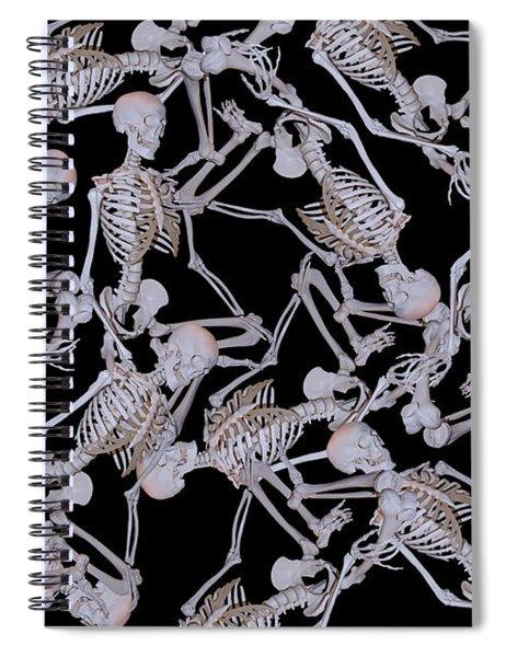 Raining Skeletons Spiral Notebook