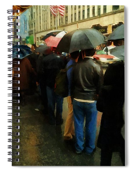 Rainy Afternoon On Broadway Spiral Notebook