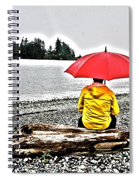 Rainy Day Meditation Spiral Notebook