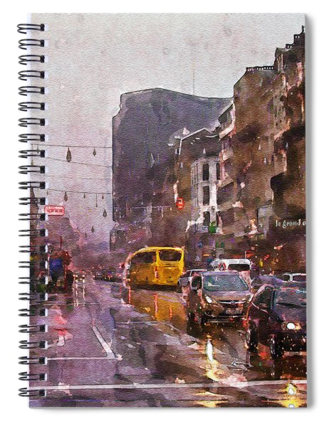 Rainy Day Traffic Spiral Notebook