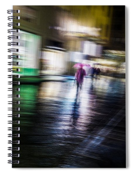 Rainy Streets Spiral Notebook
