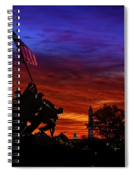 Raising The Flag Spiral Notebook