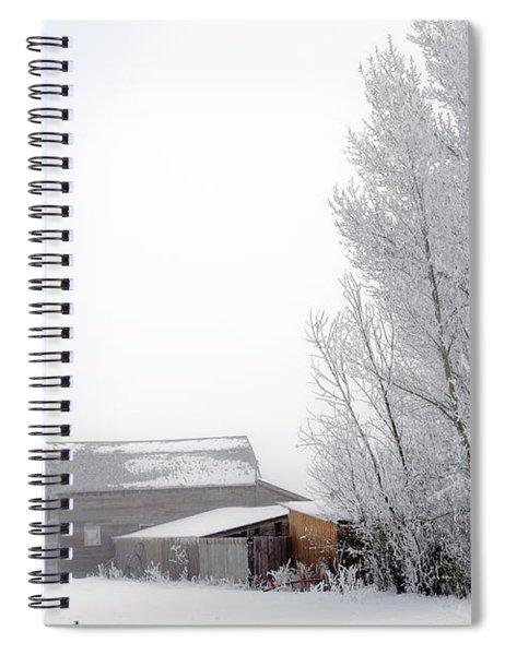 Ranch In Frozen Fog Spiral Notebook