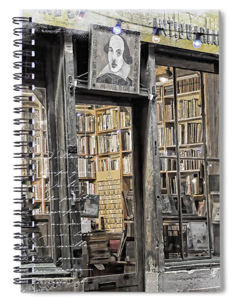 Rare Books Latin Quarter Paris France Spiral Notebook