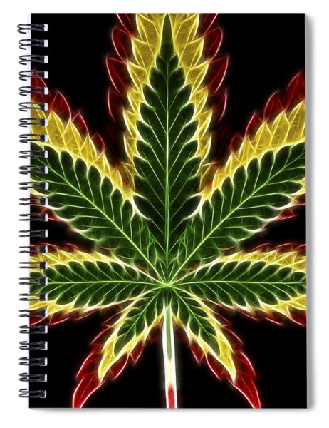 Rasta Marijuana Spiral Notebook