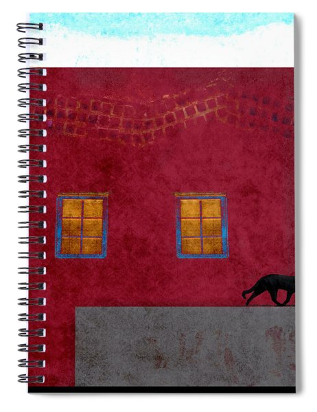 Raven And Cat Spiral Notebook
