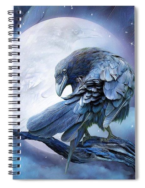 Raven Moon Spiral Notebook