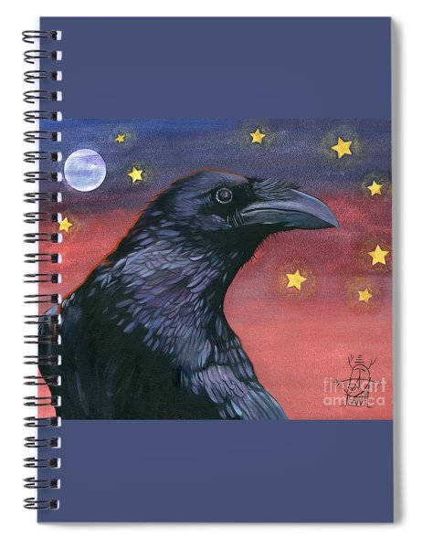Raven Steals The Moon - Moon What Moon? Spiral Notebook