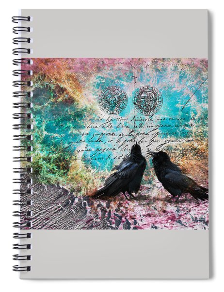 Crow Whispers In The Nowhere Spiral Notebook