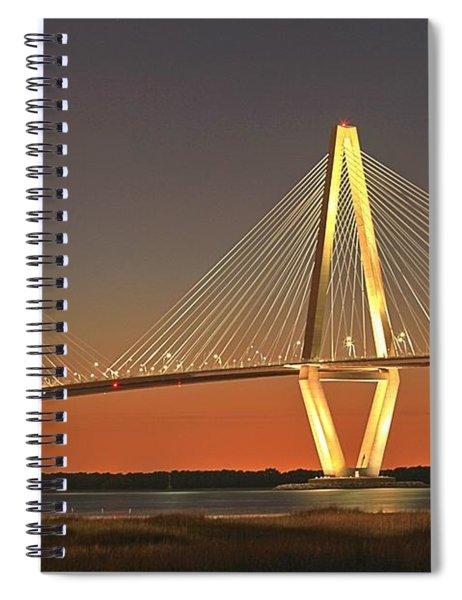 Ravenel Bridge At Dusk Spiral Notebook