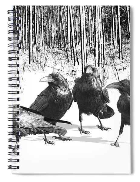Ravens By The Edge Of The Woods In Winter Spiral Notebook