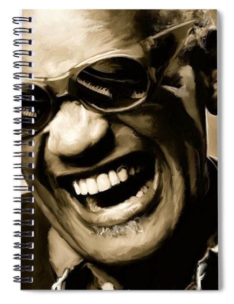Ray Charles - Portrait Spiral Notebook