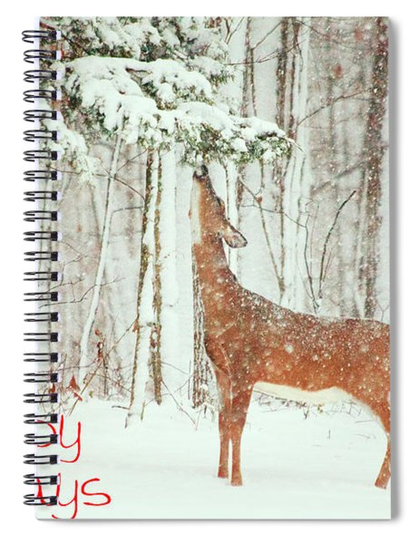 Reach For It Happy Holidays Spiral Notebook