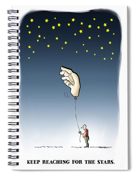Reach For The Stars Spiral Notebook