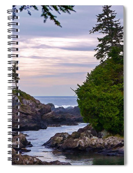 Reaching Out To The Ocean Spiral Notebook