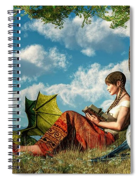Reading About Dragons Spiral Notebook