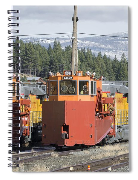 Spiral Notebook featuring the photograph Ready For More Snow At Donner Pass by Jim Thompson