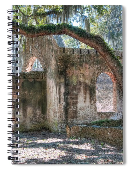 Rear View Of The Chapel Of Ease Spiral Notebook