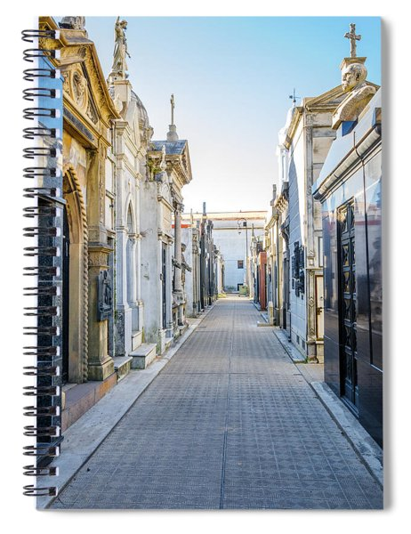 Recoleta Cemetery View Spiral Notebook