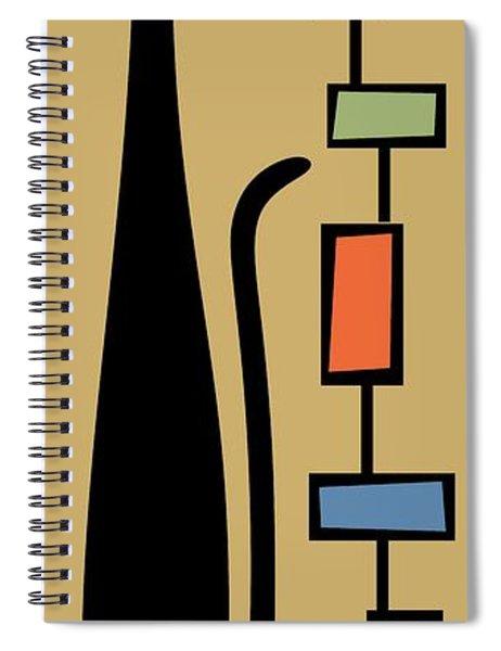 Rectangle Cat 2 Spiral Notebook